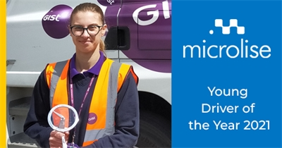 Gist Driver wins Microlise Young Driver of the Year Award 2021