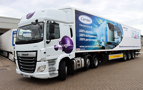 Gist trials new electric refrigerated trailer for fresh and chilled food deliveries
